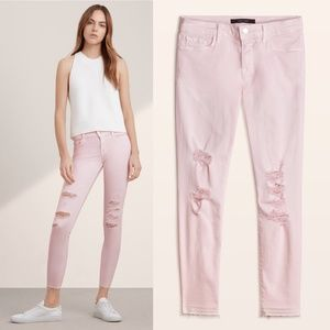 JBrand Cropped Dem Orchid Ice Skinny Distressed